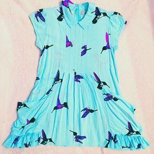 Anthropologie Skyway Hummingbird Dress
